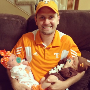 Tommy with Eli & Emry before the first UT football game